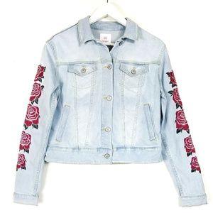 Lularoe | Harvey denim jean jackets roses